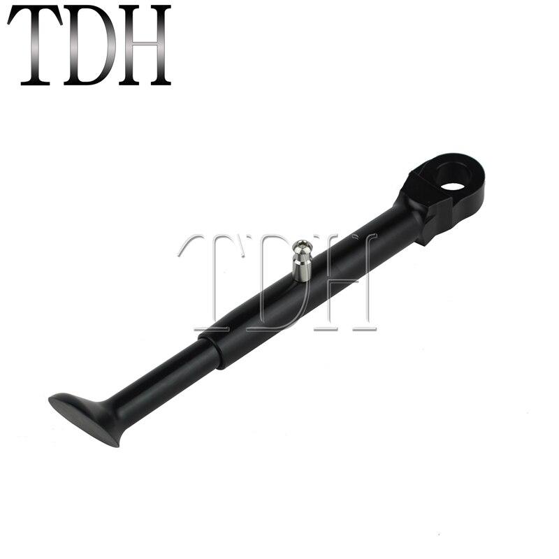 1 × أسود للدراجات النارية نك الألومنيوم الجانب الوقوف 5.5