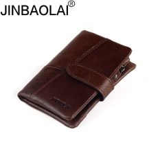 Hasp Genuine Leather Wallet High Quality Wallets Luxury Male Dollar Price Fashion New Purse Coin Poc
