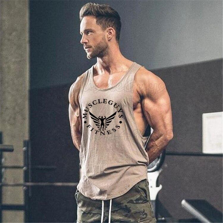 Мужская футболка для бодибилдинга, хлопковая Спортивная футболка