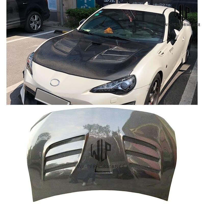 Alta qualidade de fibra de carbono frente motor capô bonnets tampas do motor para toyota gt86 brz corpo do carro kit 13-17
