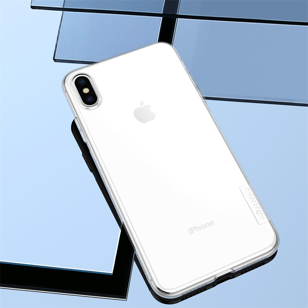 Para Apple iPhone XS Max Nillkin naturaleza transparente de silicona TPU para iPhone XR / XS Max cubierta de la Caja