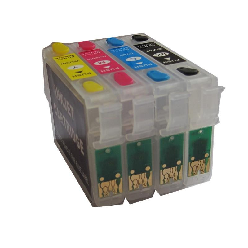 BLOOM compatible para T1281 cartucho de tinta rellenable para EPSON Stylus S22 SX125 SX130 SX230 SX235W SX420W SX425W SX430W SX435W