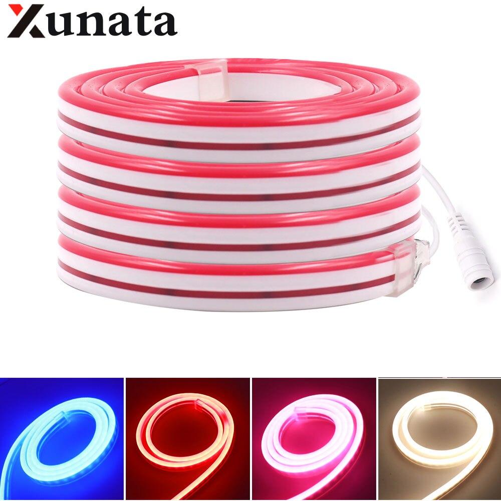 2835 Neon Light DC12V 120Leds/m Neon Strip Light IP67 Waterproof Flexible Led Neon Rope Tape Home Decor With AU/EU/UK/US Plug