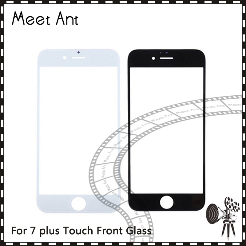 10 unids/lote de alta calidad para iPhone 7G 7 plus Panel de pantalla táctil de cristal exterior frontal