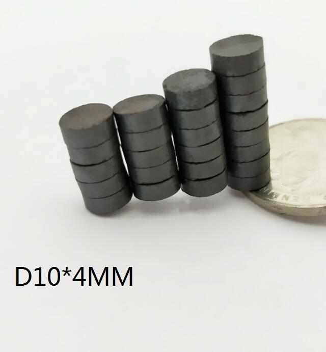 10 20 50 100 200 unids/lote Y30 imán de ferrita de disco 10*4mm imán permanente 10mm x 4mm altavoz redondo negro 10x4mm