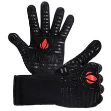 Neue 1 Paar Feuerfeste Handschuhe Grill Handschuhe 500 Celsius Wärme Widerstand BBQ Ofen Kochen