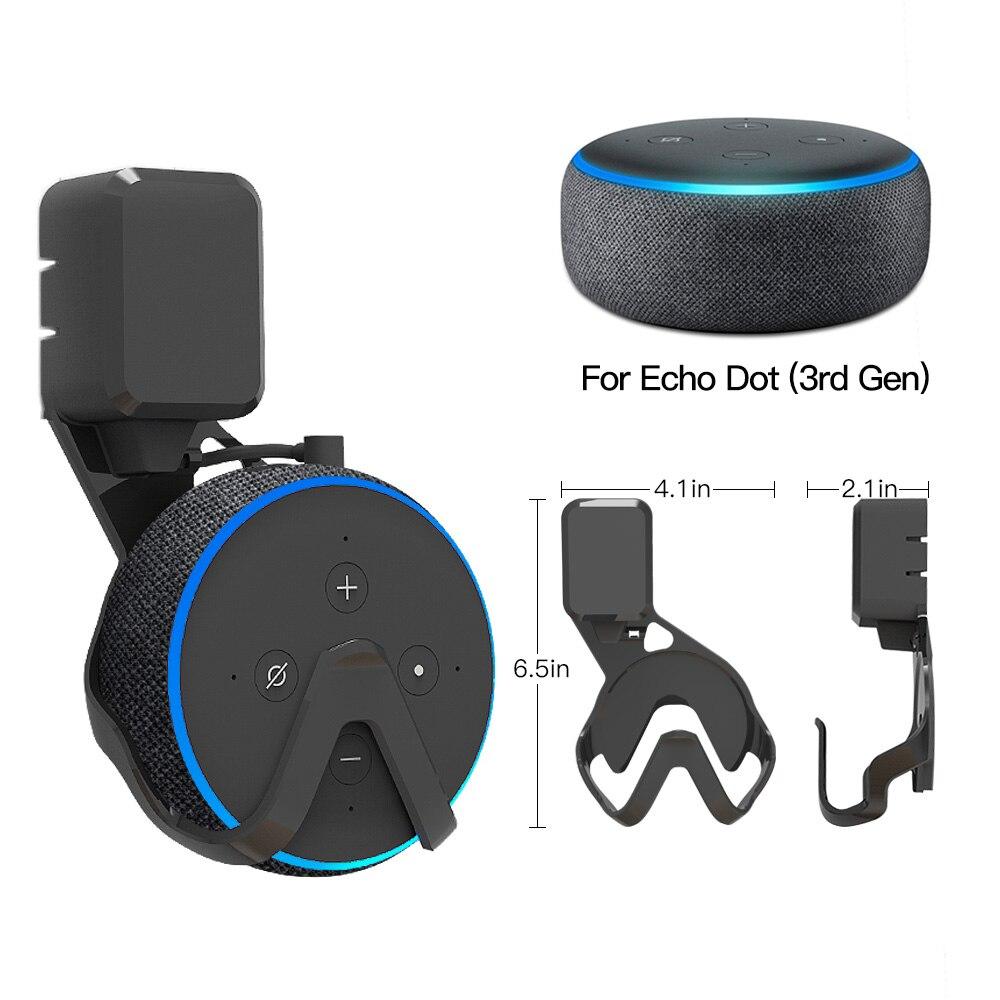 Эхо настенное крепление вешалка поддержка для Amazon Dot 3 грязный беспроводной или компактный большой чехол Поддержка чехол оптовая продажа