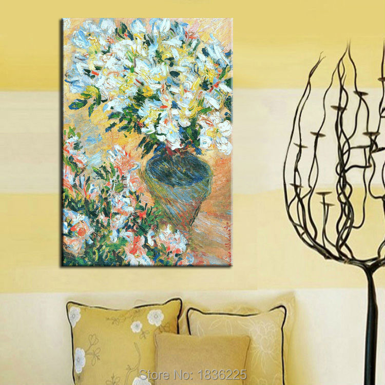 Hand painted modern flower oil paintings modern paintings with a knife for wall decor home decor  home interior decorator