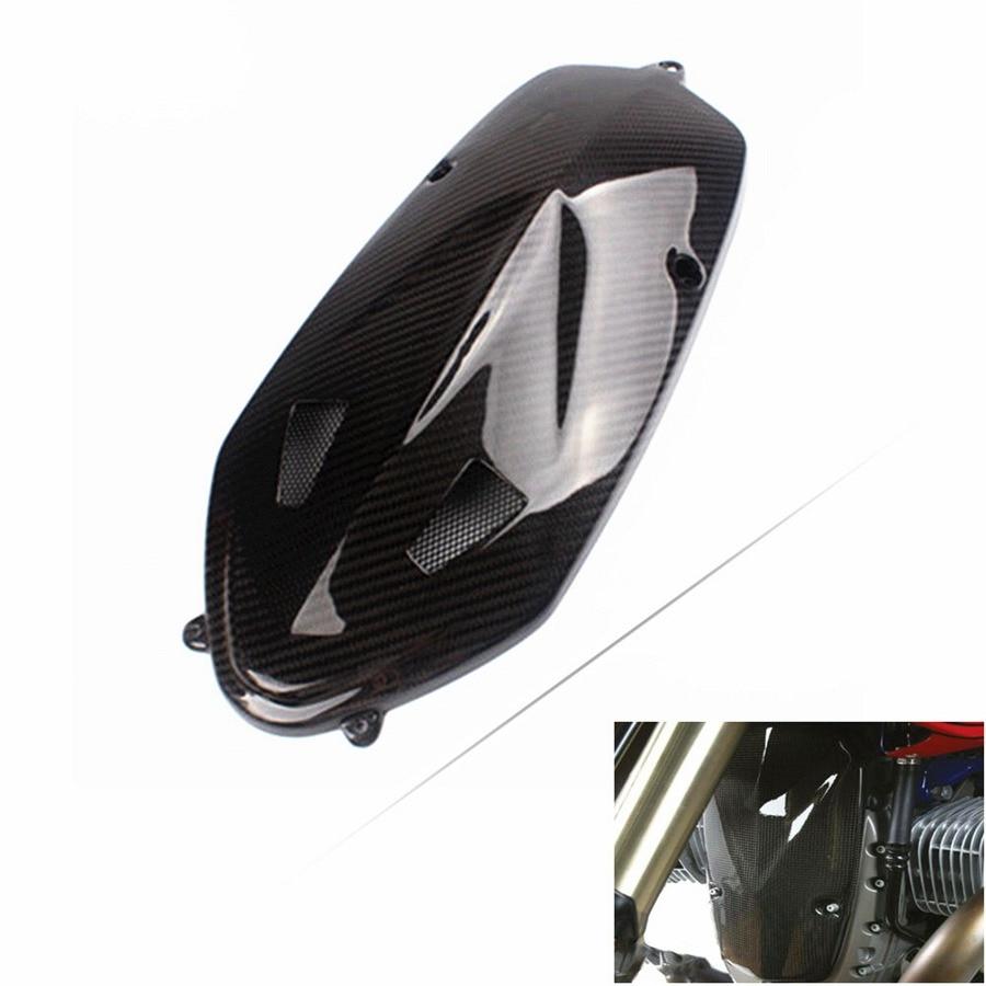De fibra de carbono Real de placa de cubierta de cárter de motor para BMW R nueve T R9T 2014-2017 de 2015 negro 2016