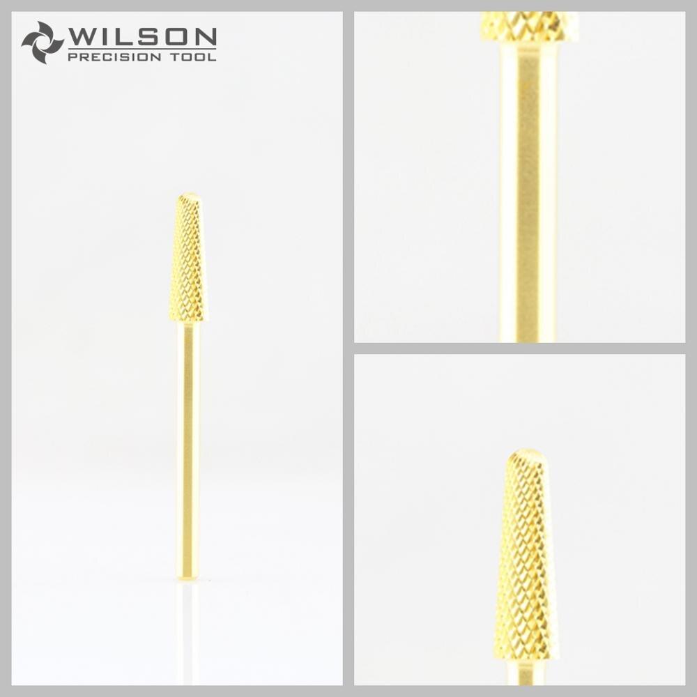 2 uds-broca cónica-Fina-dorada-broca de carburo WILSON
