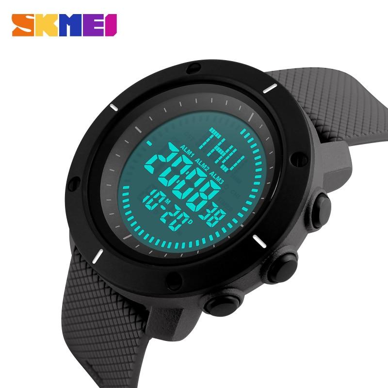 SKMEI Fashion Sport Watch Men Compass Watch Alarm Clock Chrono Back Light 5Bar Waterproof Digital Wristwatch reloj hombre 1216