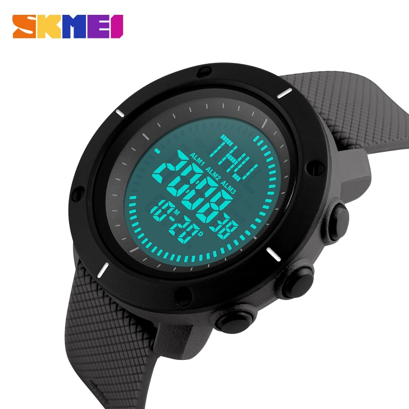 SKMEI Hombres Deportes de La Moda Relojes Del Reloj Del Compás 3 Repetidor Cronógrafo Alarma Back Light 50 M Impermeable Relojes Digitales 1216