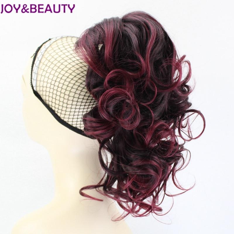 Волосы для наращивания JOY & BEAUTY, 12 дюймов, волнистые, высокотемпературные, синтетические, конский хвостик, 6 цветов