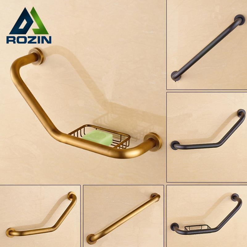 Free Shipping Brass Bathroom Grab Bars Wall Mounted Helping Handle Bars for Bathtub Safety Grip Handrail for Children Elderly
