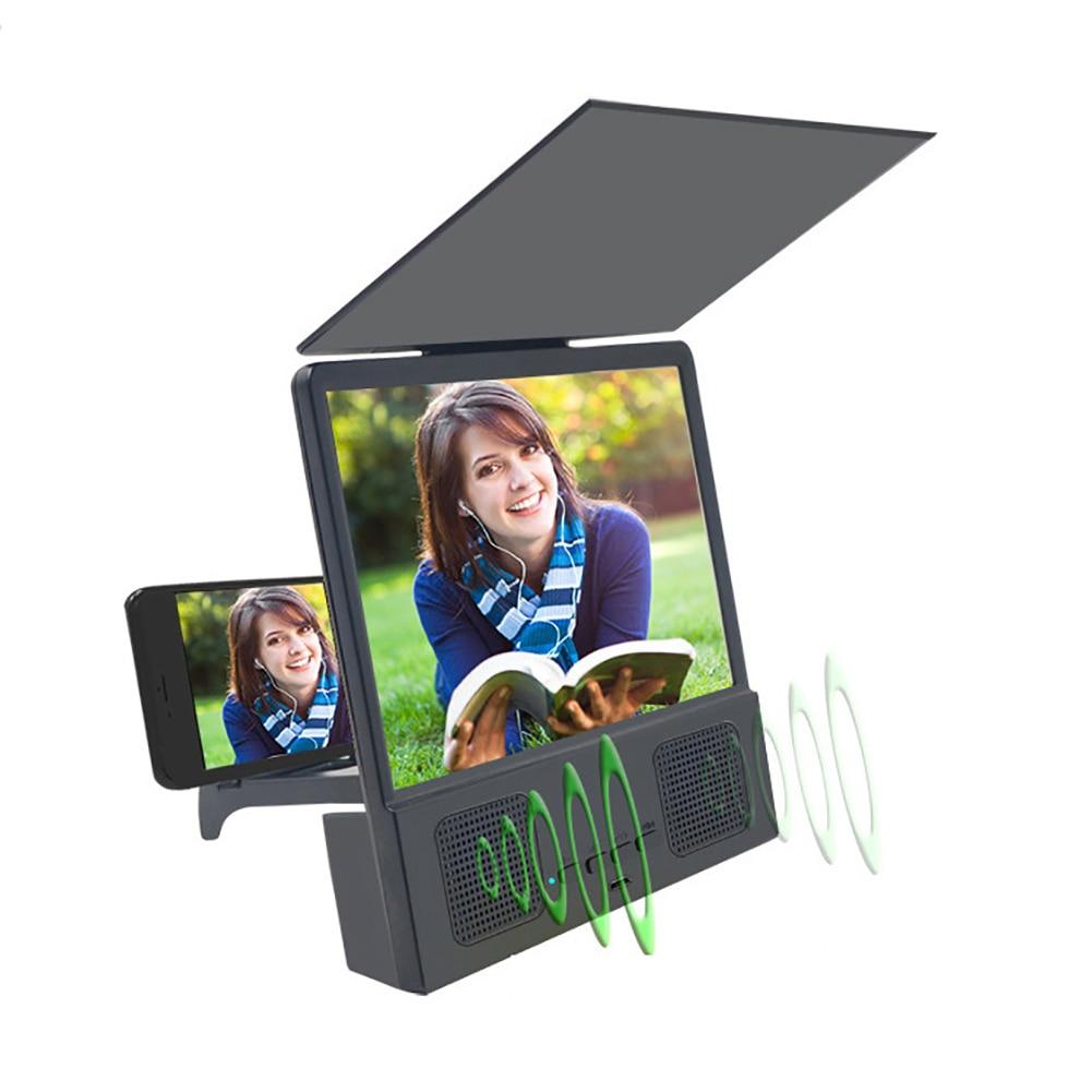 Portátil caliente 3D HD lupa de la pantalla del teléfono amplificador Bluetooth...