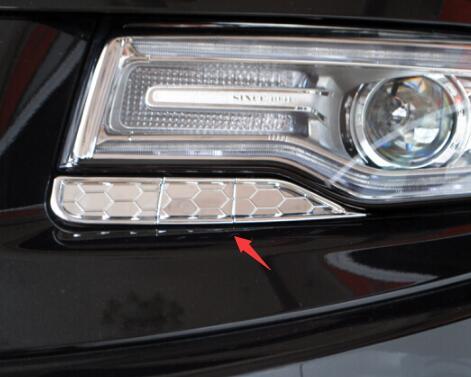 ABS cromado faros de coche limpieza dispositivo cubierta embellecedor para Jeep Grand Cherokee 2014 accesorios de coche estilo