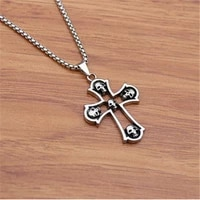 vintage cool mask tire earphone hippocampus pharaoh skull cross necklace men statement necklace women chain gothic jewelry