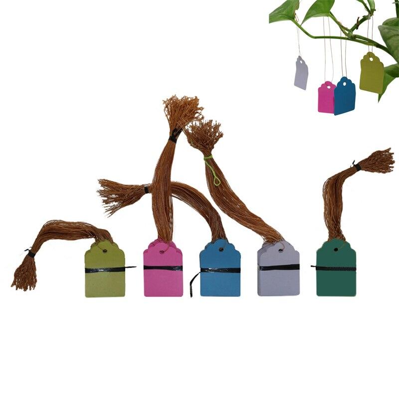500 Uds macetas de plantas de plántulas de jardín y etiquetas con logotipo de marca placa de número herramienta de identificación colgante de plástico