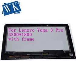 Frete grátis Laptop 3 Tela Sensível Ao Toque + conjunto da tela Lcd Para lenovo YOGA 1370 Pro 13.3 LTN133YL03-L01 3200*1800 pinos 40