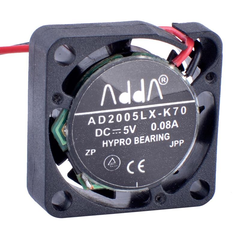 COOLING REVOLUTION AD2005LX-K70 2006 20x20x6mm 5V 0.08A Miniature ultra-thin cooling fan
