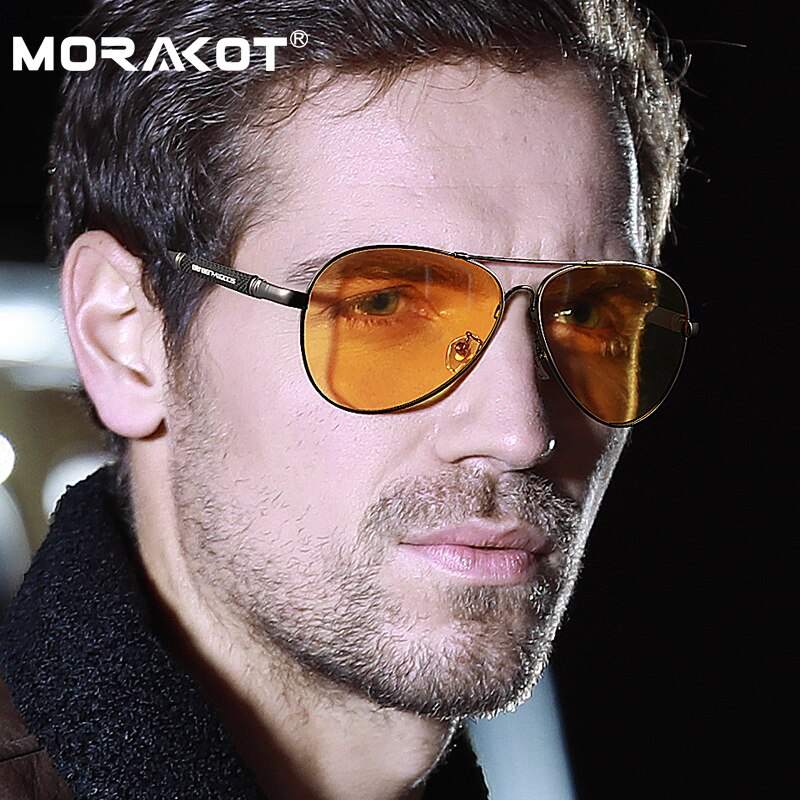موراكوت مكافحة وهج المستقطب سائق سيارة نظارات الرؤية الليلية نظارة بعدسات مستقطبة الرجال القيادة النظارات الشمسية اكسسوارات السيارات P009812