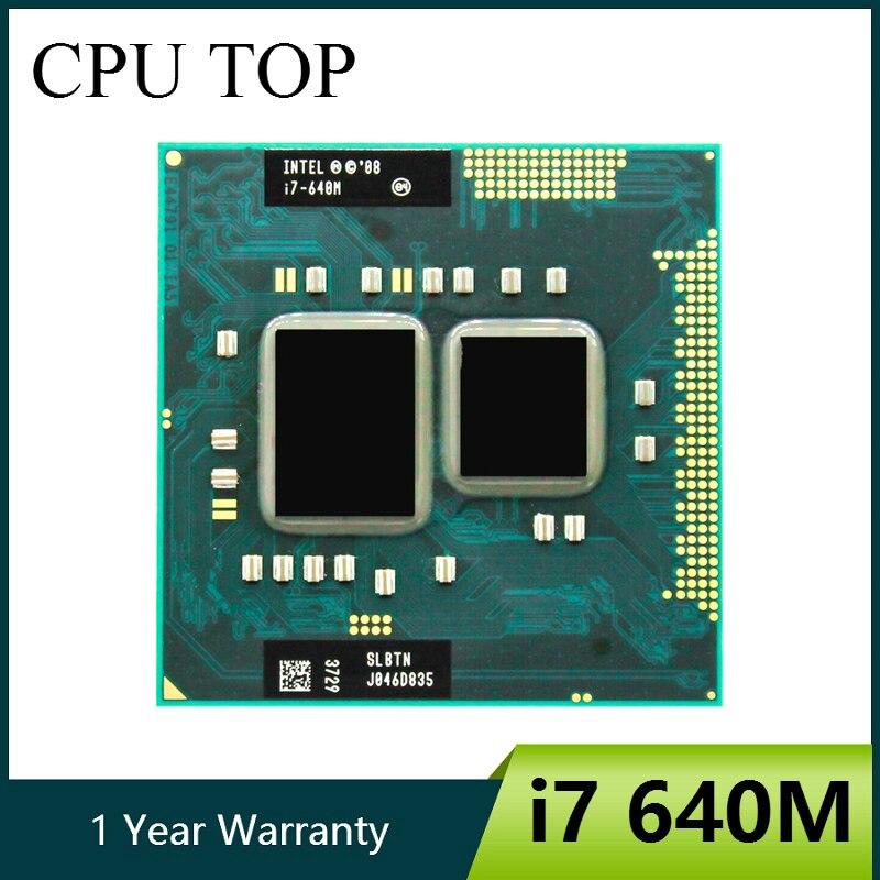 Процессор Intel core I7 640m SLBTN Dual Core 2,8 GHz L3 4M работает на HM55