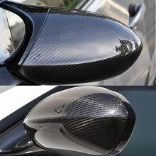 Hohe qualität Für BMW E92 M3 E82 1M 2008-2013 100% Real Carbon Fiber Rückspiegel Abdeckung seite Spiegel Kappen auto styling