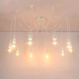 Modern Ceiling Lamp With E27 Bulb Base 6 Heads White Ceiling Lights Home Decora for Bar Hotel Bedroom Livingroom Kids Room Light