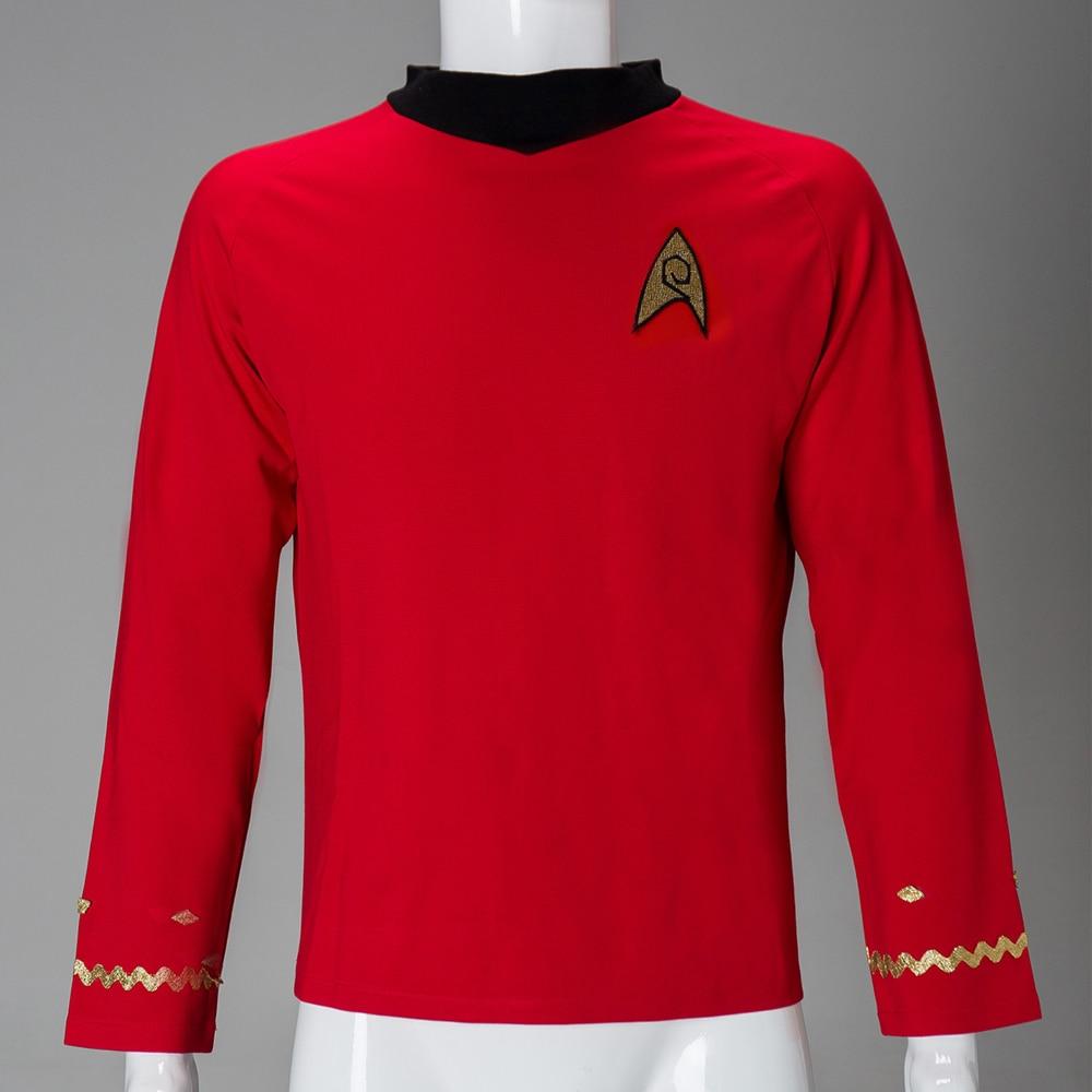 Estrela a Série Cosplay Original Scotty Camisa Vermelha Uniforme Traje Halloween Novo Tos Rek