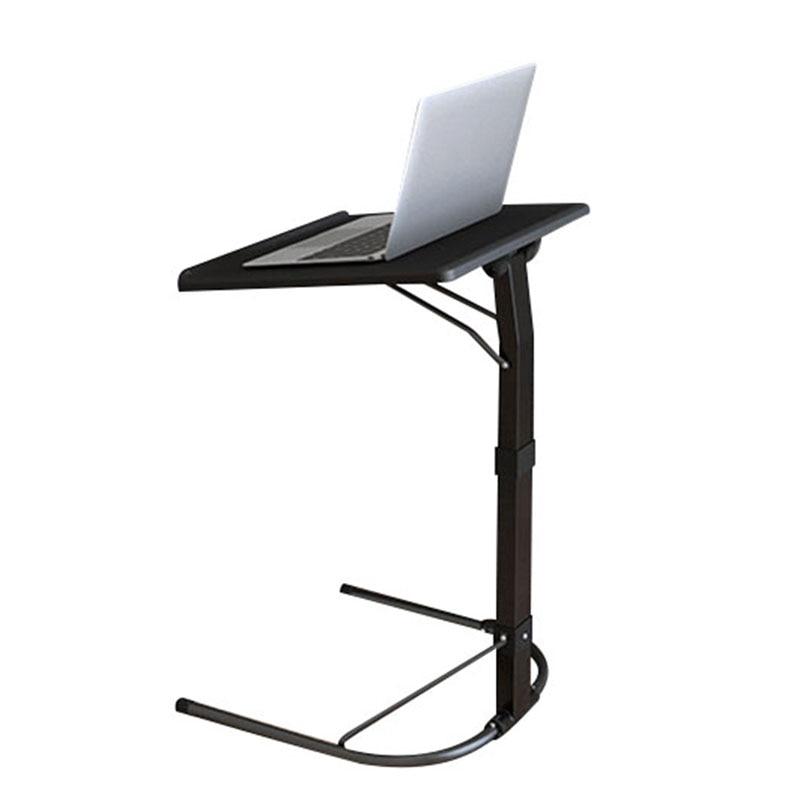 U Shape Plastic PC Table Computer Desk Learning Sofa Laptop Bed Tables Can Bear 20kg Adjustable Study Density Board Desks