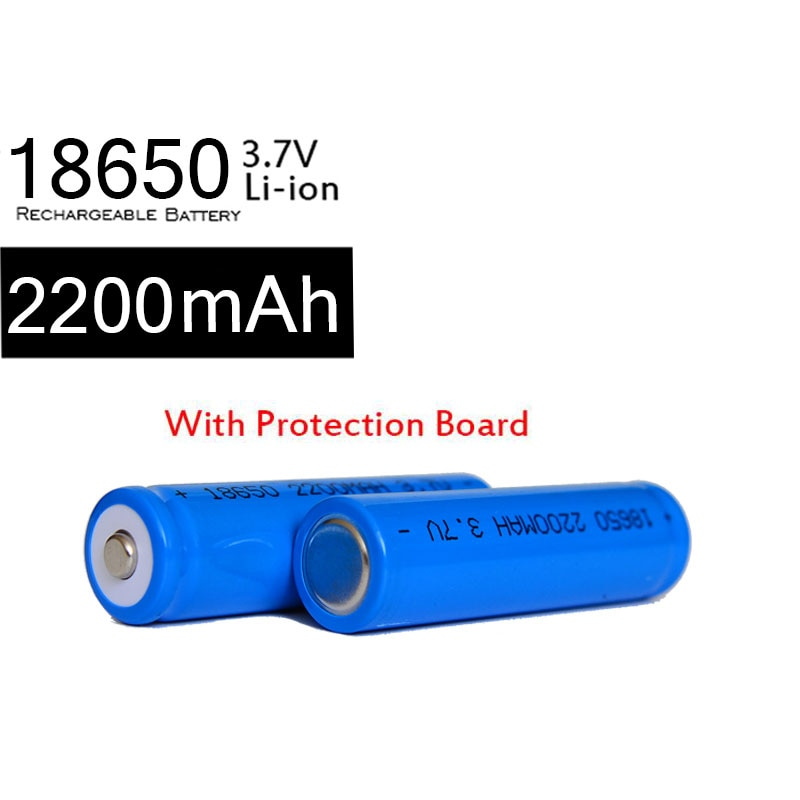 KingWei 10 uds/placa PCB 18650 2200mah 18650 3,7 v batería de iones de litio recargable de León para linterna LED de juguete