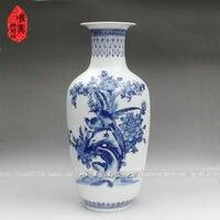 christmas Ceramics vase blue and white porcelain vase quality melon knobbing