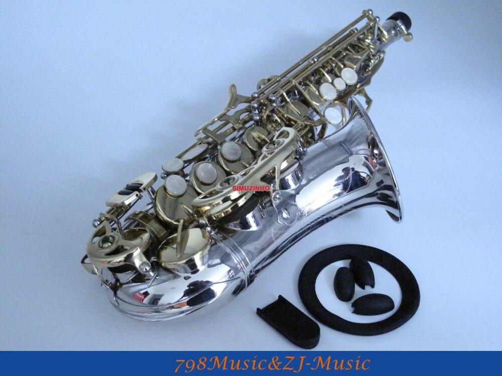 Chave para Alta Niquelado Curvado Soprano Saxofone f Chave Livre Lorico Anel Mudo bb