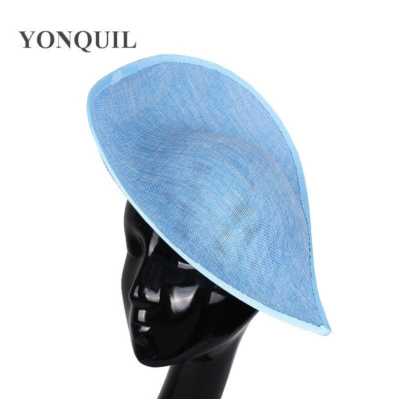 2018 New arrival 30 cm royal ascot fasciantors chapéus chapelaria casamento bases de luz azul para o derby acessórios para o cabelo 5 pçs/lote SYB05