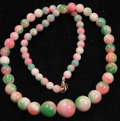 "2014 nova moda frete grátis Bonito 6-14mm Multicolor Kunzite Beads Colar 18 ""BV47"