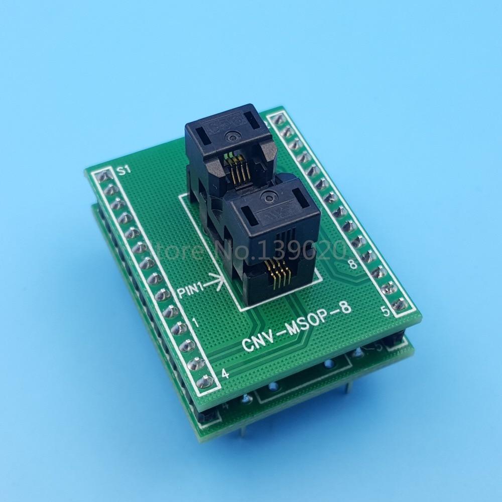 MSOP8 SSOP8 To DIP8 Pitch 0.65mm IC Programming Adapter Test Socket