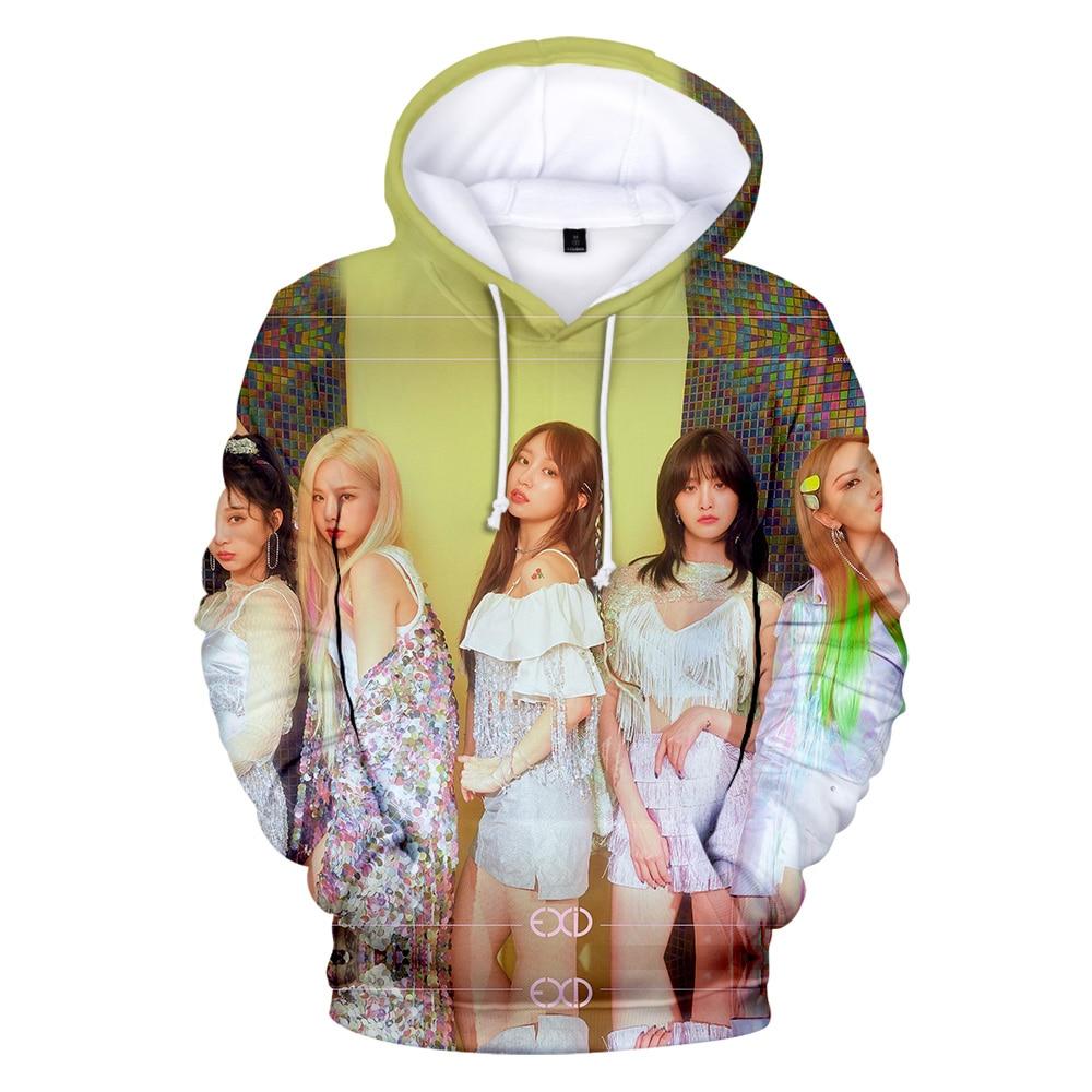 Sudaderas con capucha 3D 2019 Otoño Invierno Corea EXID hombres Harajuku estilo coreano hip hop idol EXID 3D sudaderas con capucha mujer sudadera