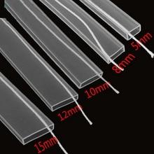 Tube de silicium IP67 5 m/10 m longueur 8mm/10mm/12mm pour SMD5050 3528 3014 5630 ws2801 ws2811 ws2812b LED étanche bande silicone cilp