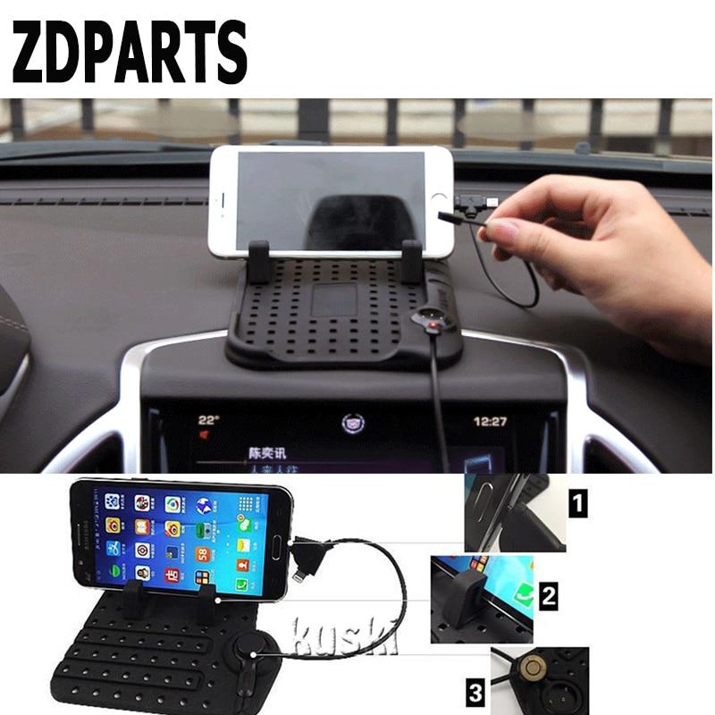 ZDPARTS, alfombrilla antideslizante para coche, soporte para teléfono, cargador para Kia Rio Ceed Hyundai Solaris Suzuki Grand Vitara Swift, pegatina Alfa Romeo