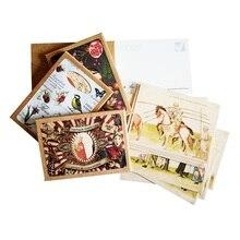 16 Stks/partij Retro Oude Mensen Leven Postkaart Wenskaarten Kerstkaart Verjaardag Visitekaartje Geschenken