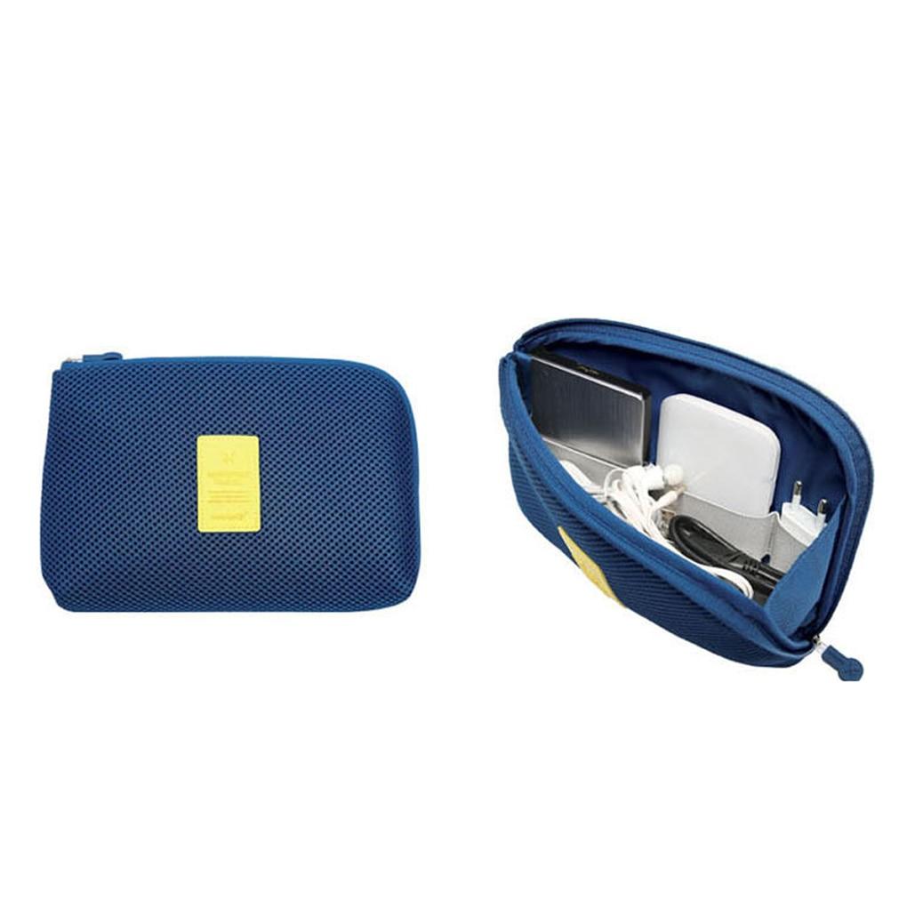 HOT NEW  Travel Data Cable Charger Storage Bag Mobile Power Pack Pouch Bag