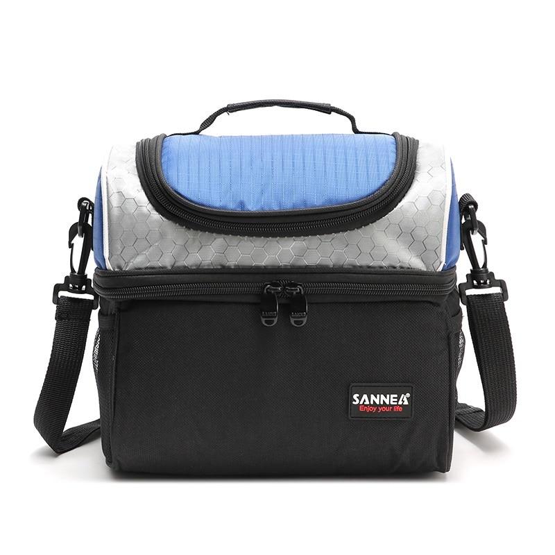 6.7L Double-deck practical cooler bag waterproof oxford ice pack picnic refrigerator bag for food fruit drink