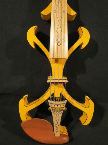Best model crazy - 2 Song art streamline 5strings yellow 4/4 electric violin enlarge