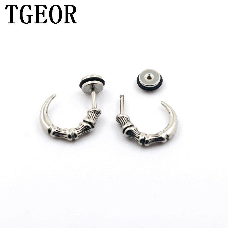 Hot atacado piercing jóias 20 pcs 6 milímetros cheaters ilusão de aço inoxidável forma de cauda de peixe ouvido Taper Falso