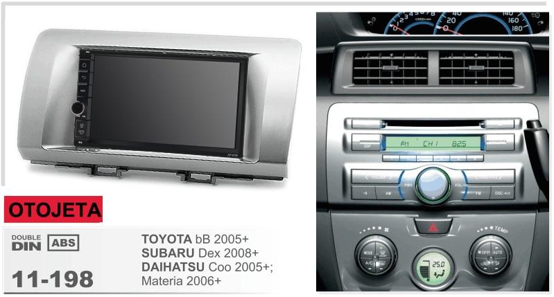 Navirider Android 8.1 car multimedia radio player tape recorder frame+radio series fit for toyota bb subaru dex daihatsu coo