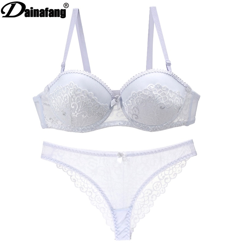 New Sexy Lace Bras Sets Intimate Push up Lcate Sexy Womens Underwear  70AB 75AB 80AB 85AB 90AB 3/4 Cup Girls Lingerie