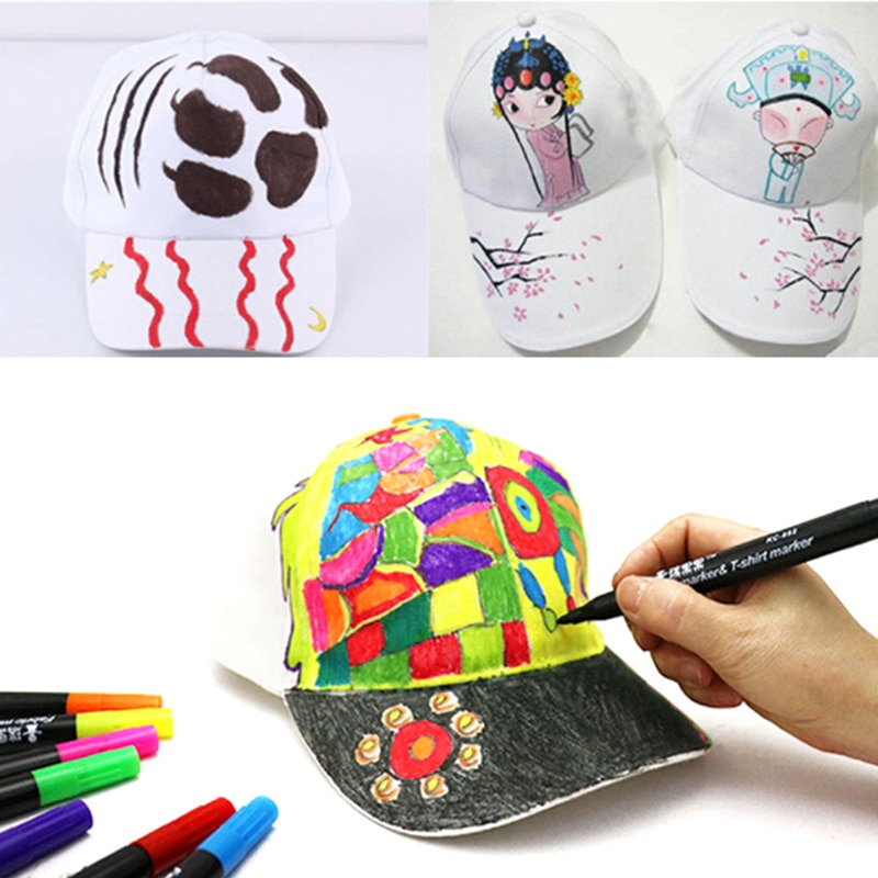 Gorras blancas de algodón DIY, gorras de Hip Hop pintadas a mano, gorras de béisbol en blanco para niños, decoración de fiesta, regalos de recuerdo