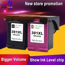 2 paquets pour HP 301XL cartouche dencre remplacer 301 xl compatible pour HP Deskjet 1000 1050 2000 2050 2510 3000 imprimante