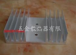 2 pcs ElectronicTransistor radiador 99*25*70mm placa De amplificador de Potência/power board dissipador de calor/alumínio dissipação de calor de liga bloco