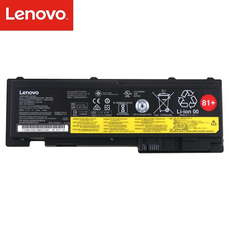 Original batería del ordenador portátil para Lenovo Thinkpad T420S T430S FRU 45N1037 ASM 45N1036 11,1 V 44Wh 0A36309